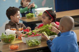 comer de forma saludable niños