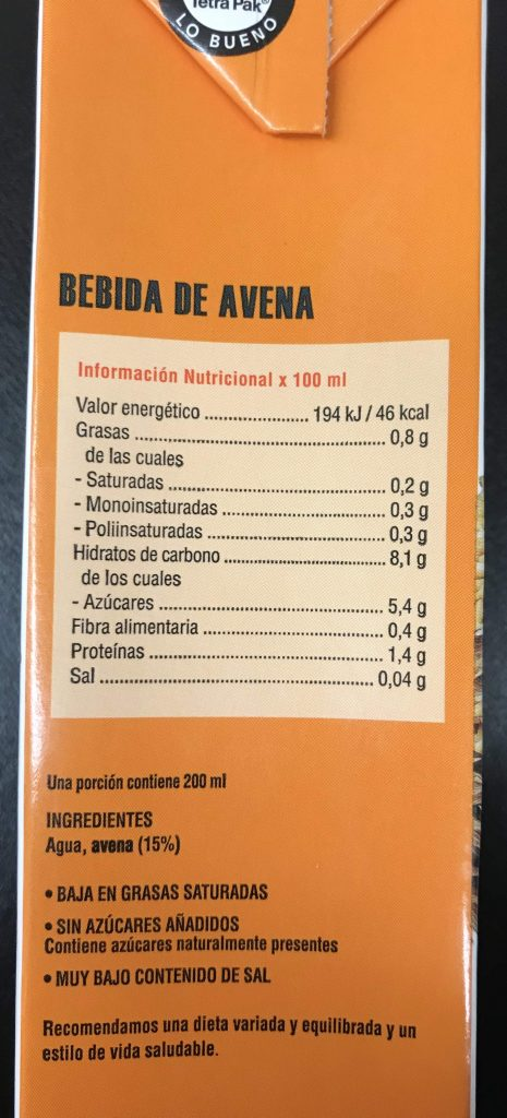dieta con agua de avena