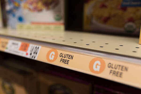 alimentos sin gluten en el mercado